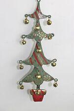 Gisela Graham NATALE LATTA Quattro a più livelli albero in vaso con Jingle Bells