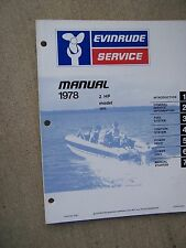 1978 Evinrude Outboard Motor 2 HP Model 2802 Service Manual Boat Marine Engine R