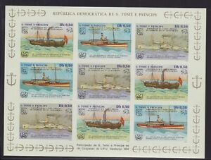 Sao Tomé und Principe 5 Kleinbogen 909-911 ungezähnt (Michel unbekannt)