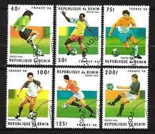 Football Benin (5) série complète 6 timbres oblitérés