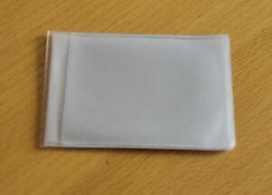2 x Clear Credit Card holder refill insert for card holder 6 pockets Landscape