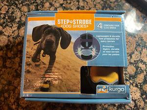 Kurgo Step N Strobe Dog Shoes Water Resistant Snow Boots Anti Slip XXS LED 360