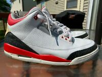 Nike Air Jordan 3 III Retro Shoes 136064-161 White Fire Red Cement Size 13