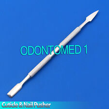 Cuticle Pusher Remover Long Flat Manicure Pedicure Nail Art Cleaner Makeup Tools