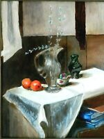 "M.JANE DOYLE SIGNED ORIGINAL ART OIL/CANVAS PAINTING ""THE ARRANGEMENT"" FRAMED"
