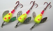 SPIN N GLO LOT OF 3 SPINNER LURE TROUT SALMON STEELHEAD ALASKA AUSTRALIA UK