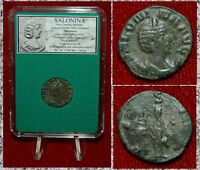 Ancient Roman Empire Coin SALONINA Vesta On Reverse Antoninianus