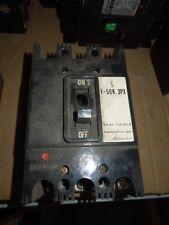 Hitachi, LTD F-50K 3PX F50K30UL9 50A 3P Circuit Breaker Used