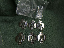 Collectible Western Vintage Leathercraft/Crafts Silver Tone Conchos-New Lot 6-
