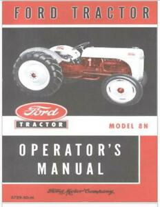 Ford 8n Parts Operators and Workshop Manuals the FULL SET