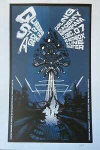 Queens of the Stone Age Birmingham 2007 Poster Signed (Rhyfer Ink) Rhys Wootton