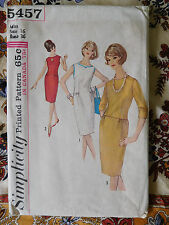 1964 Vintage Simplicity one piece Dress Pattern  5457 Size 16 wiggle skirt