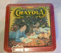 Vintage 1992 CRAYOLA Collectible Holiday Tin, Sealed, Never Opened