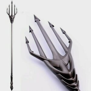 Limited Collectible Aquaman Queen Atlanna Metal Silver Weapon Cosplay Trident