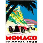 SPORT ADVERT MONACO GRAND PRIX MOTOR RACE 1932 MONTE CARLO POSTER 30X40 CM 12X16