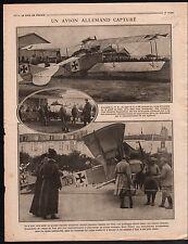 WWI Aircraft Aviatik Place de Toul Sanzey Horloge Gare d'Orsay 1916 ILLUSTRATION