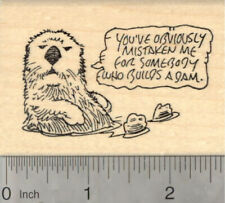 Otter Saying Rubber Stamp, You've Obviously Mistaken Me for Somebody J21929 Wm