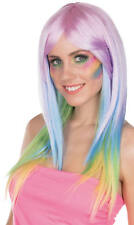 Perücke Rainbow bunt Einhorn Pferd Karneval Fasching