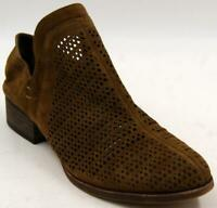 Vince Camuto Cinneys Women's Brown Nubuck Leather Laser Cut Ankle Booties Sz 9 M