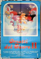 manifesto 2F originale ORSETTI DEL CUORE 2 -  film d'animazione 1986