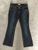Next - Womens navy Bootcut Jeans - size 10 Petite STRETCH blue