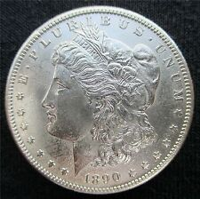 1890-S MORGAN, GEM BRILLIANT UNCIRCULATED MINT STATE +++. INCREDIBLE DETAILS!!