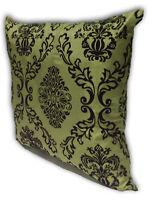 Green Home Decorate Room Sofa Flock Print Cushion Cover Pillow Case 43cm x 43cm