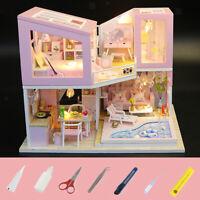 Maison de Poupée Miniature Bricolage Maison à Construire en Kit Cadeau