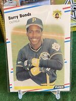 1988 FLEER BARRY BONDS PITTSBURGH PIRATES #322