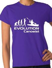 Evolution Of Canoeist Kayak  Funny Adult Ladies T-Shirt Birthday Gift Size S-XXL