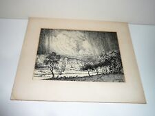 EARLY 1930-40s PEN ETCHING SIGNED W  GILES & TITLED RICKMANSWORTH