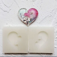 DIY Jewelry Beading Casting Mold Silicone Clear Resin Crystal Square Heart Mold