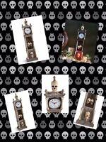 Skeleton Clock Halloween Haven Light Up Gothic Fantasy Death Steampunk Tabletop