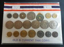 Lot de 20 Monnaies Thaïlande Différentes sur plaque