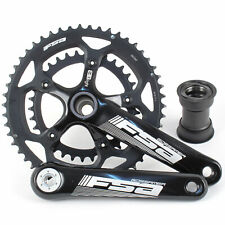 FSA Gossamer BBright Road/Triathlon Bike Crankset 50/34 10/11 Spd 172.5mm//Black