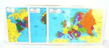 Painless Learning Educational Placemats Maps Set Europe Asia and Africa Non Slip