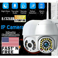 US 2/5MP 1080P WIFI IP CCTV Security Camera Wireless Outdoor HD Home PTZ IR Cam