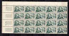 TUNISIE 1956 Y&T N°419 une feuille de 20 timbres neufs sans charnière /BKRT5