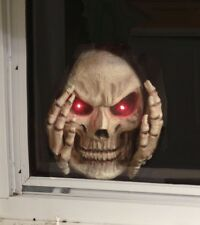Scary Peeper RED Light-Up Reaper Peeper Decoration Halloween Window Decoration