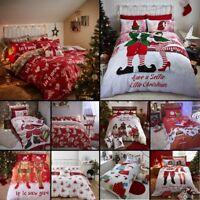 Catherine Lansfield Christmas Santa Claus Duvet Quilt Cover Xmas Bedding Sets