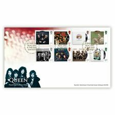 Great Britain 2020 Queen Music Giants Stamp Set First Day Cover FDC
