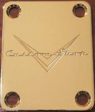 NECK PLATE CUSTOM SHOP - gold - pour guitare, basse.