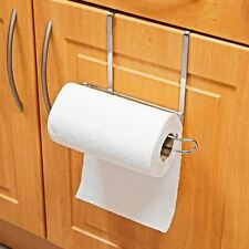 Over Cabinet Door Kitchen Paper Towel Roll Rail Rack Storage Holder Dispenser
