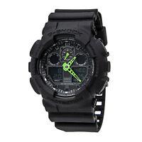 Casio GA100C-1A3 Men's G-Shock Black Ana-Digi Dial Black Resin World Time Watch