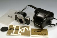 Nikon F w/ FTN Photomic finder Camera Body and Leather Case Barely Used Working