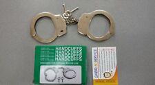 MANETTE POLIZIA ACCIAIO 241 gr Numero Seriale HANDCUFFES LOCK POLICE CARABINIERI