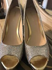 Women's Enzo Angiolini Easully Silver Gold Pumps