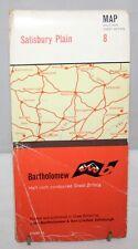 Bartholomew - Half-inch Contoured Cloth Map - Salisbury Plain - Sheet 8 - 1962