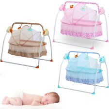 Bluetooth Electric Baby Swing Cradle Infant Remote Control Sleeping Rocking Crib