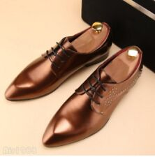 2018 Men's Slip On Pointed Toes Patent Leather Loafers Dress Formal Chic Shoes